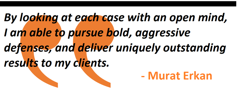By looking at each case with an open mind, I am able to pursue bold, aggressive defenses, and deliver uniquely outstanding results to my clients.