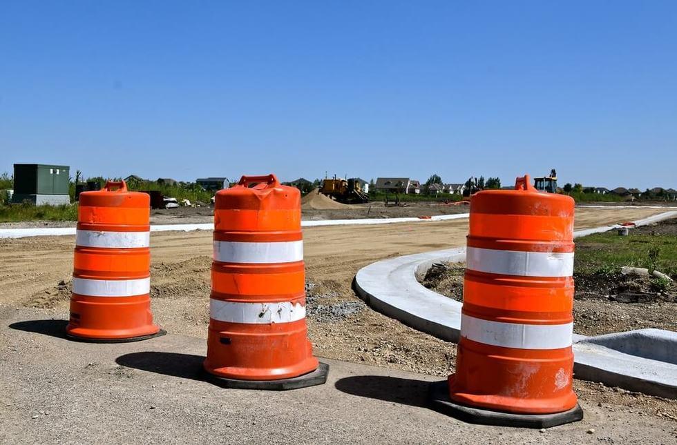 Highway barrel crash