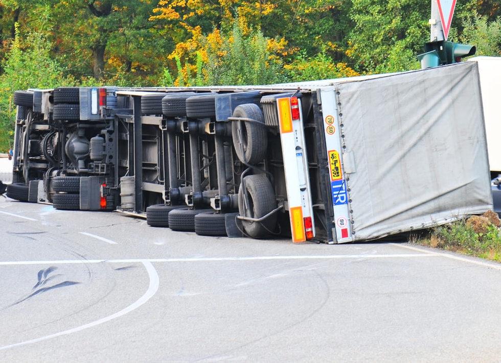 Truck accident involving car