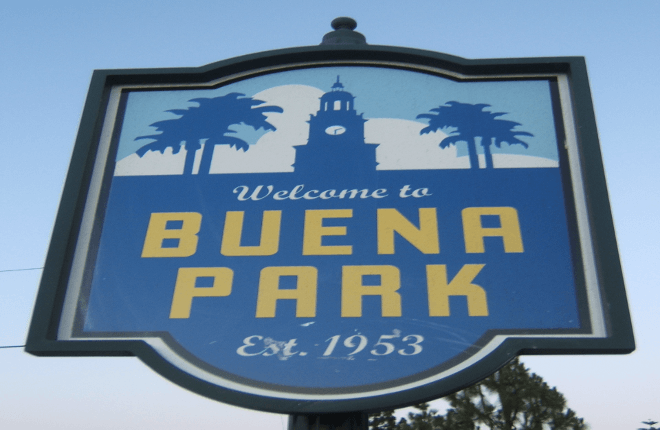 Street Sign in Buena Park, California