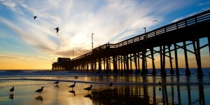 Orange County pier for motorcyclists