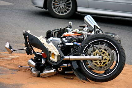 police hit in left turn motorcycle collision