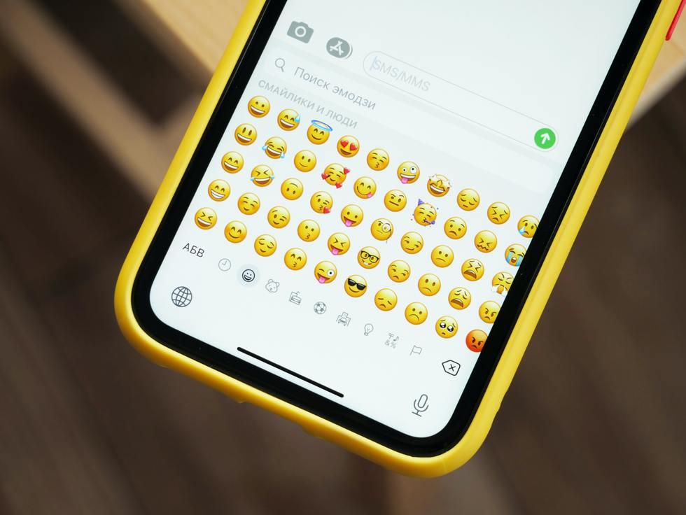 emojis on smart phone