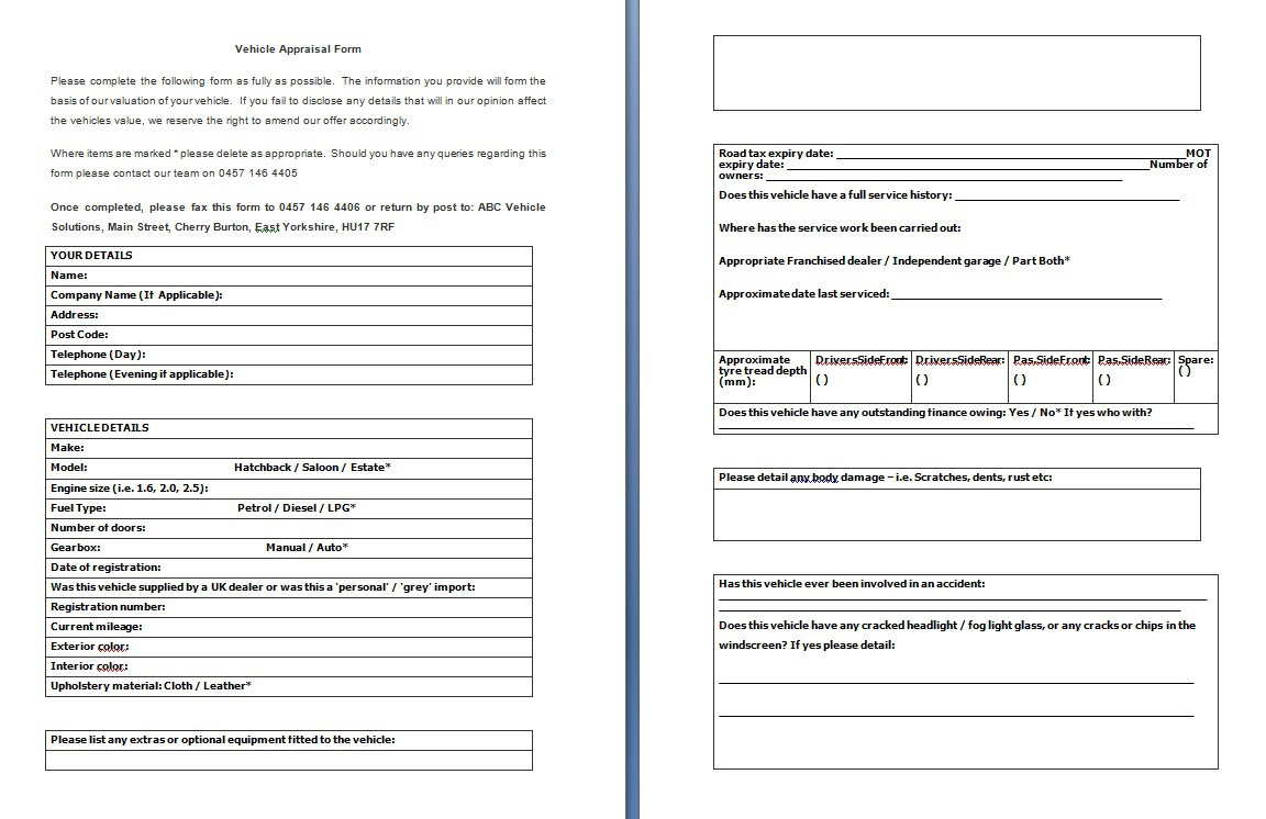 vehicle-appraisal-form-burman law