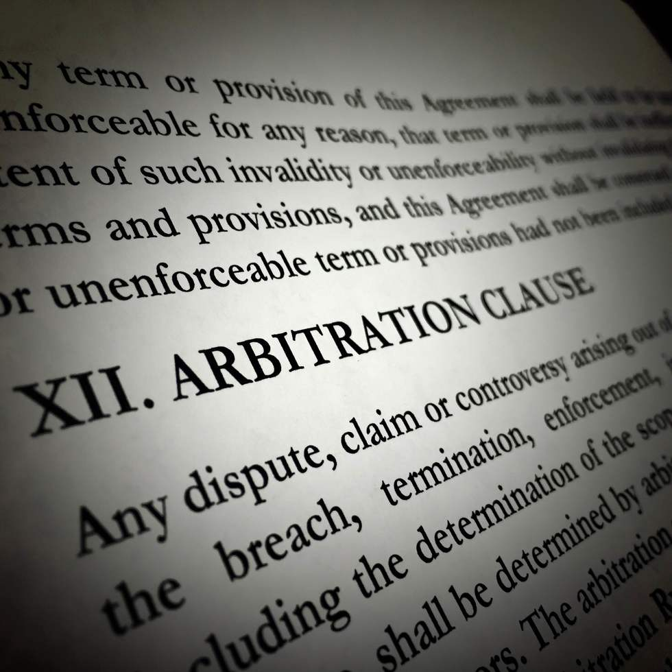 Arbitrationclause