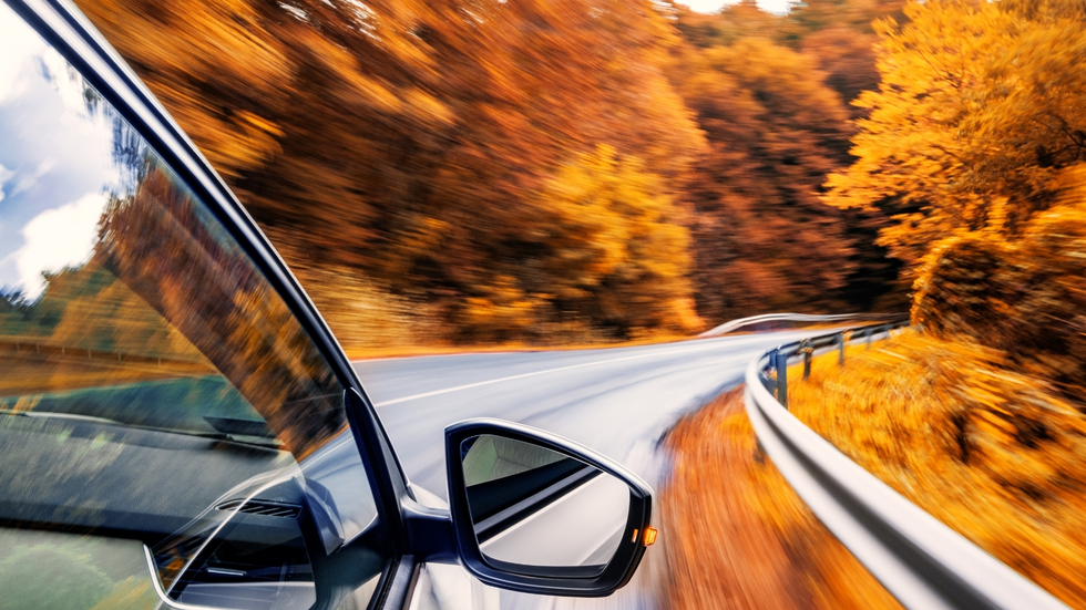 Teens driving during fall