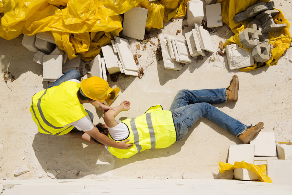 injury at construction site