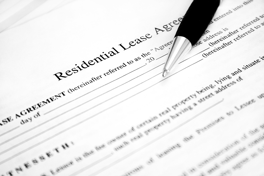 Lease form.