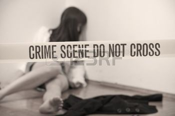 9687126 crime scene  abused young woman dead on the ground