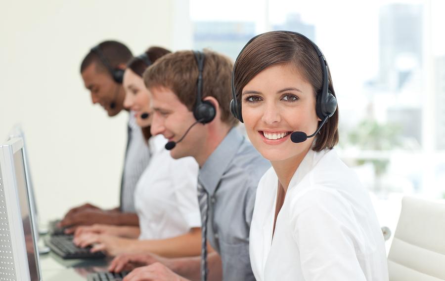 Bigstock customer service agents in a c 6555094