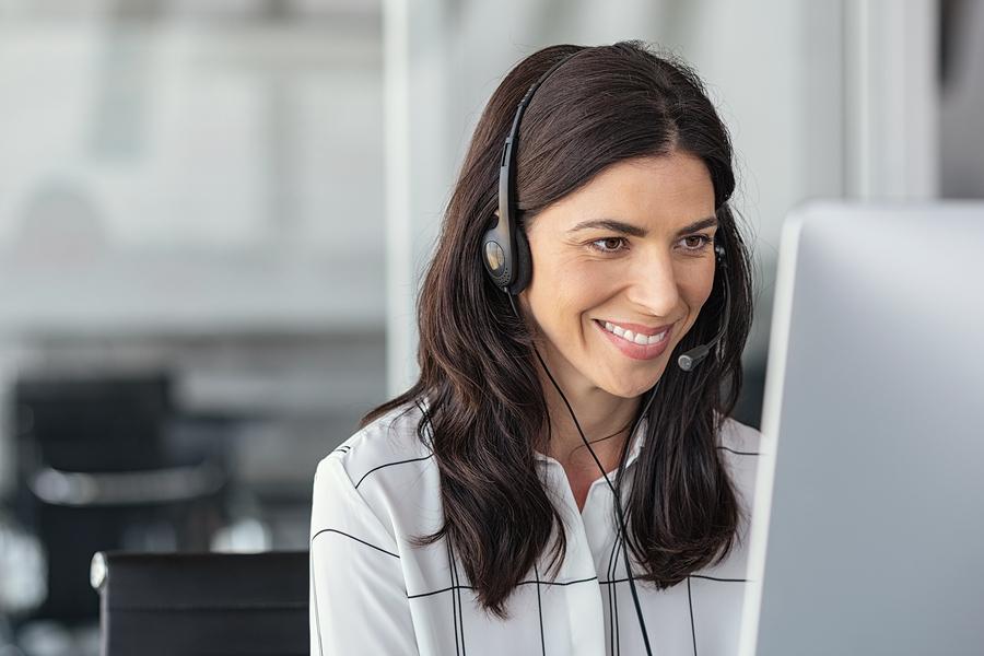 Bigstock call center business woman tal 337988581