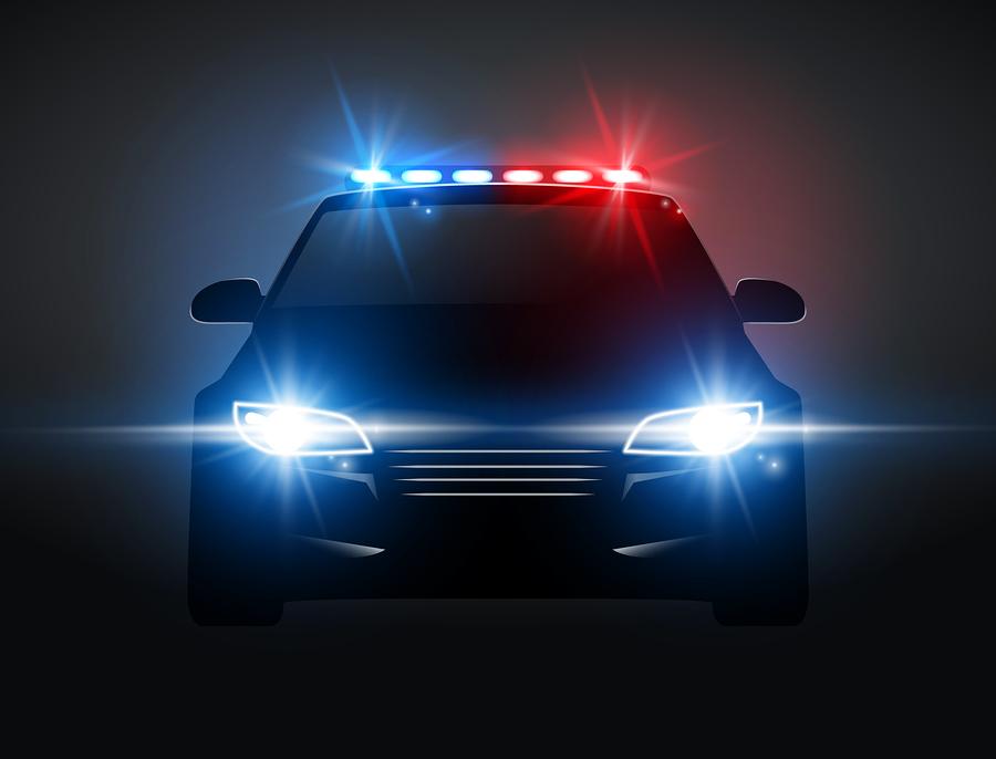 Bigstock police car light siren in nigh 341383876