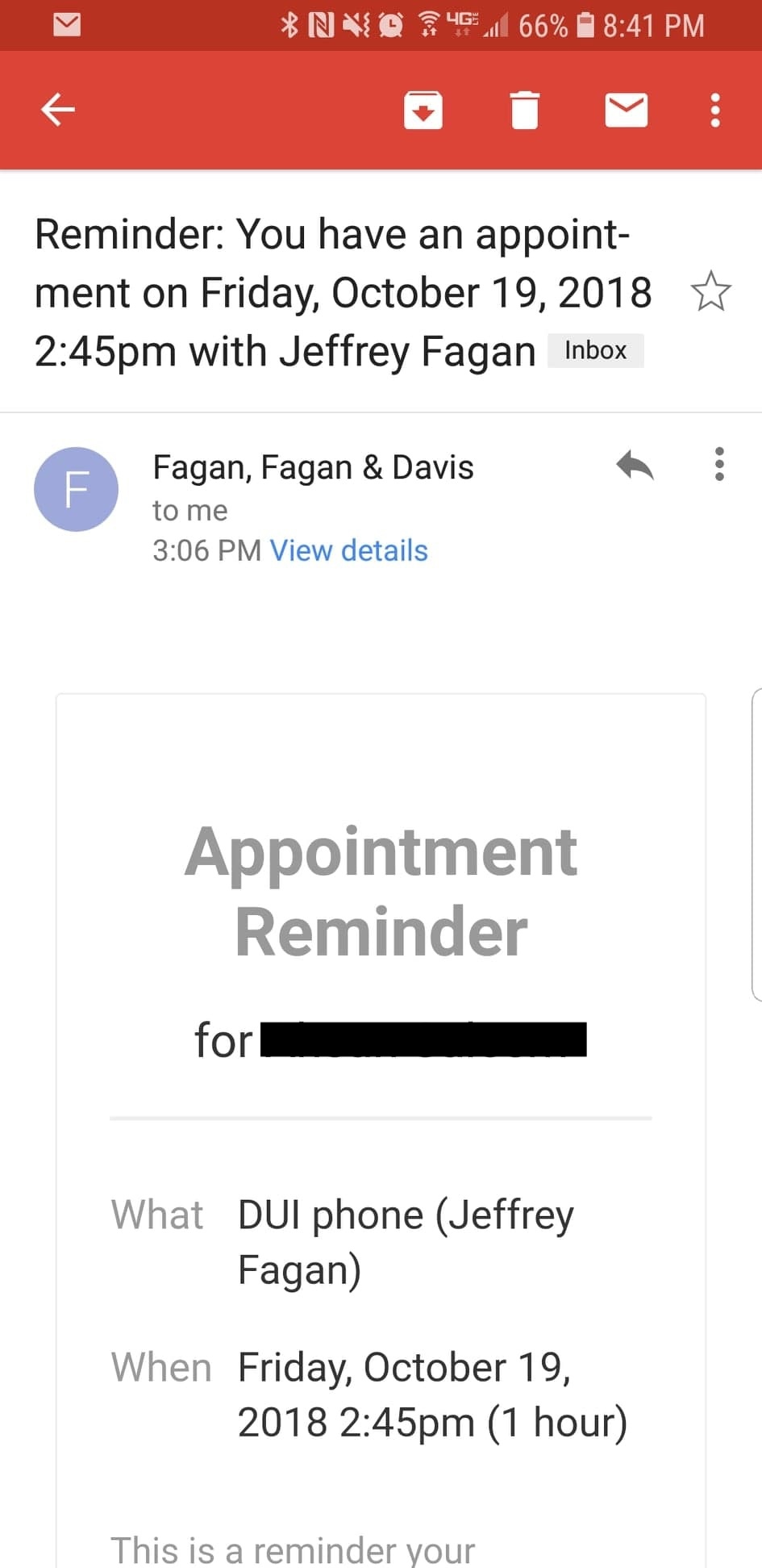 Reminder 20email