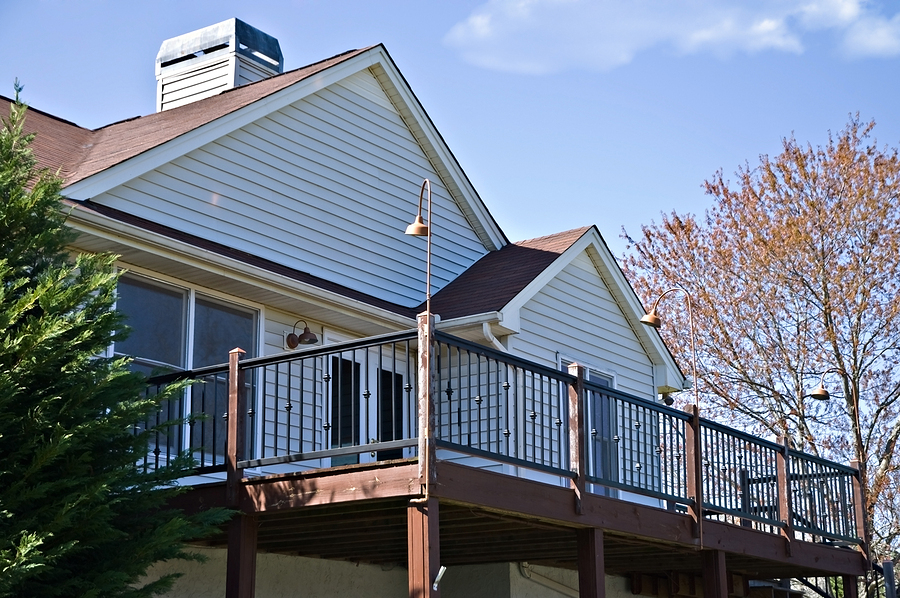 Bigstock deck on the rear of house 30914348