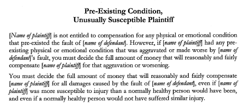 Phoenix preexisting conditions lawyer 20instruction