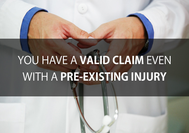 Existing injury accident claim