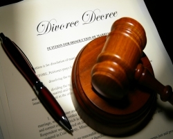 Gavel on Divorce Decree