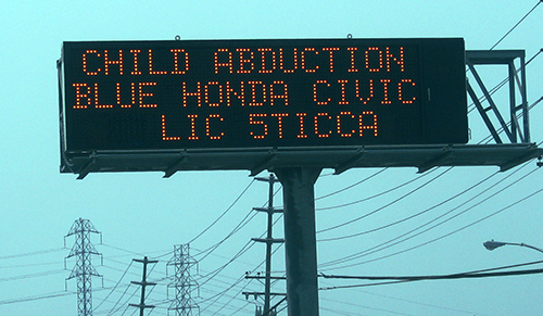 child abduction sign