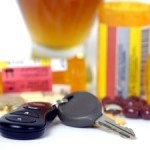 car keys and pill bottles