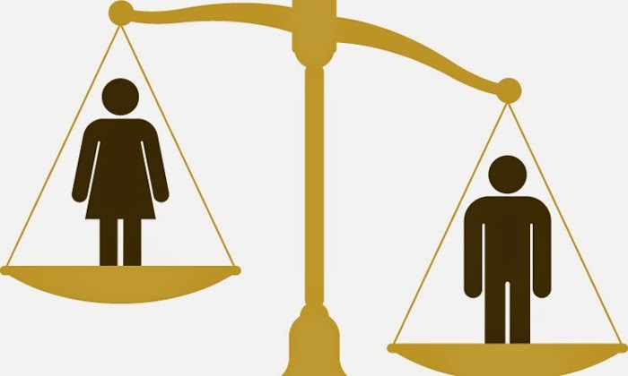 Akankashad june2014 genderinequality weighing scale shutterstock