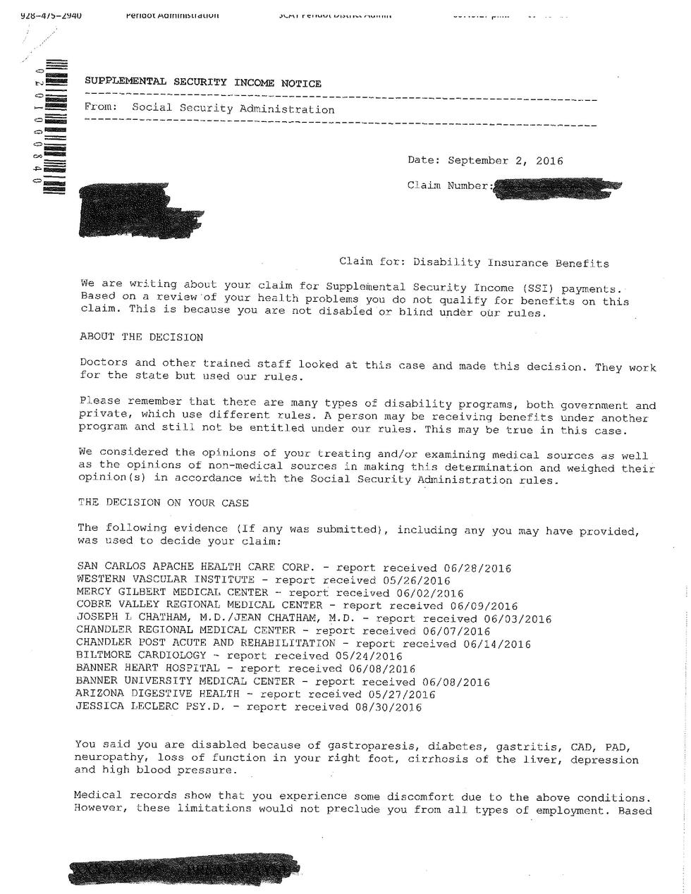 ssn denial letter social security does not all my information in the 47258