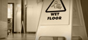 Caution wet floor 300x136