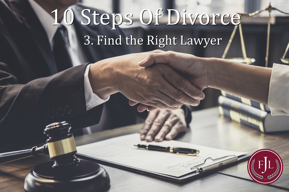 Jerkins Family Law 10 steps How to find the right lawyer for youto divorce Timelines and the Process