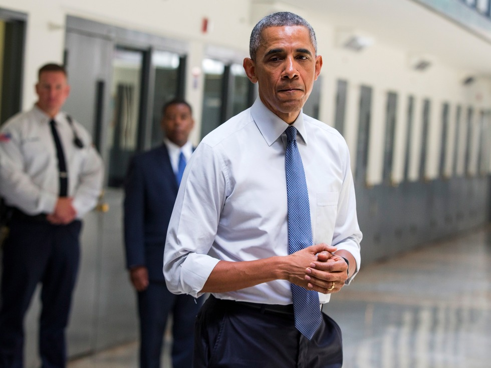 Obama just became the first sitting president to visit a federal prison