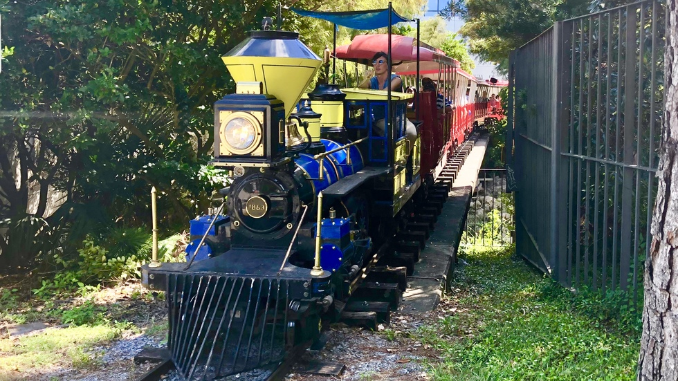 Train at City Park, New Orleans, Louisiana