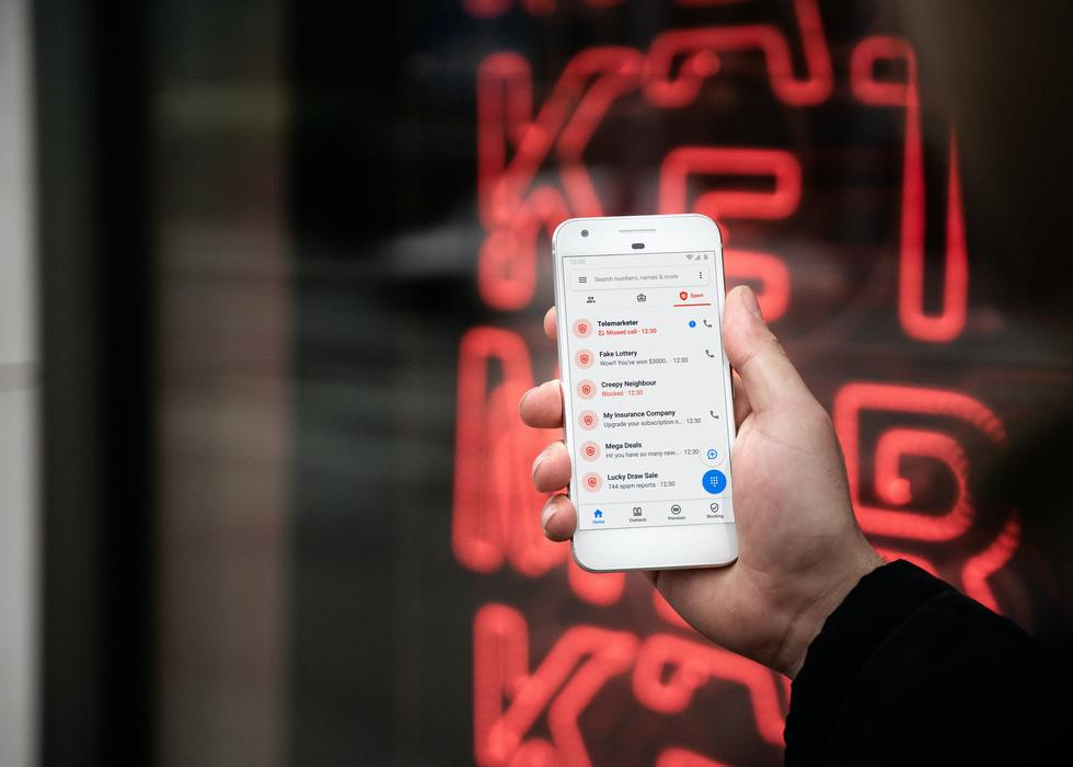 Cell phone showing text messages and alerts