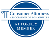 consumer attorneys association of los angeles member badge