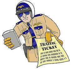 Traffic ticket california