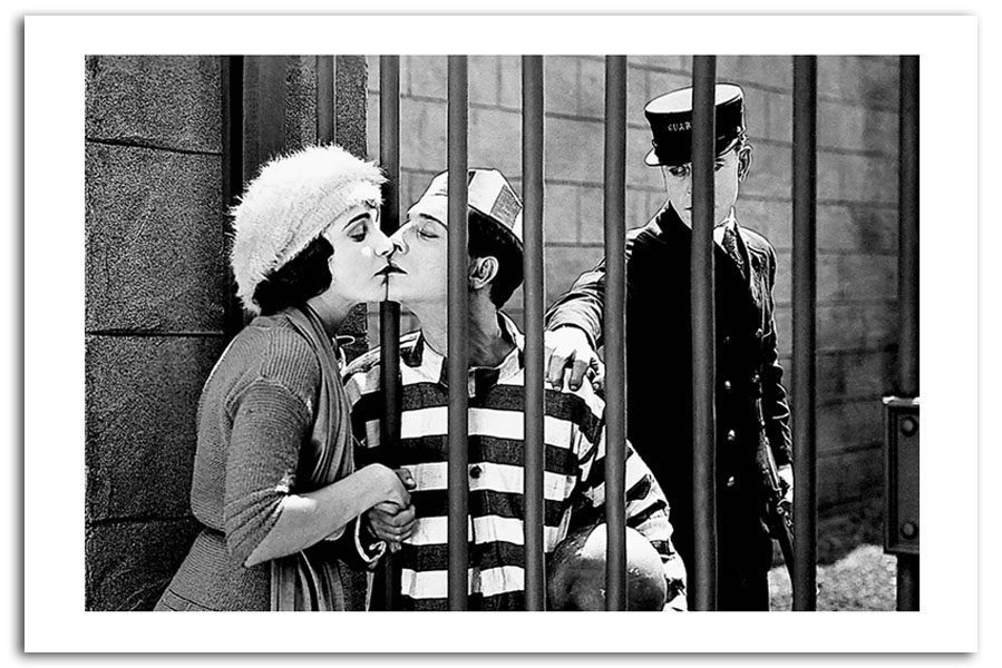 Giclee art 20print 05539 buster 20keaton 20jail 20kiss iconic paper a