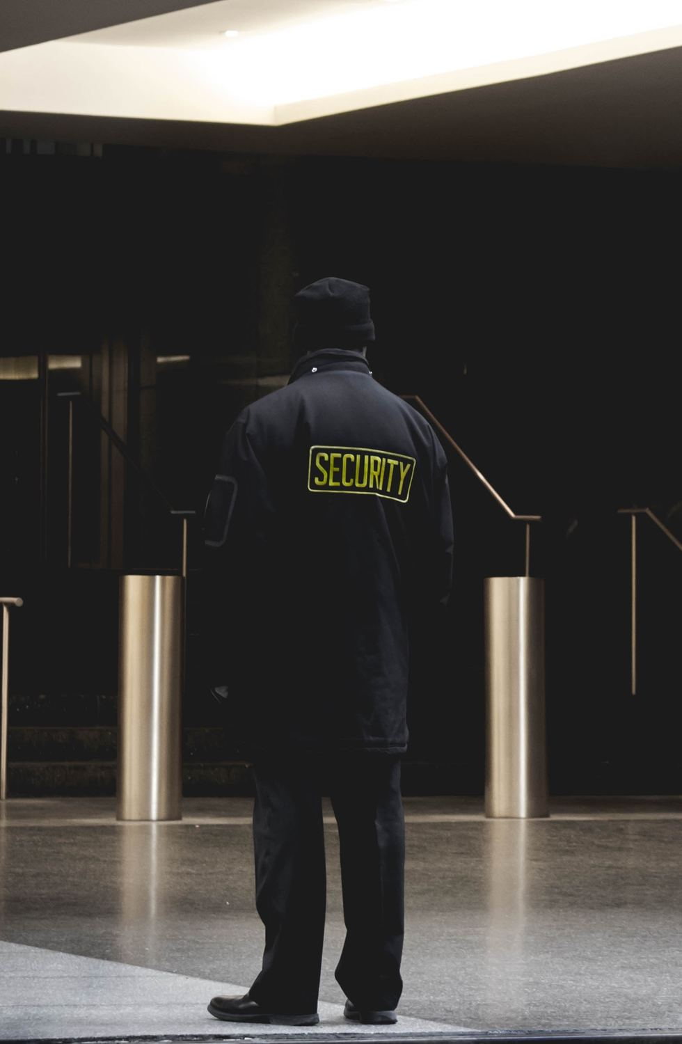 Man with Security jacket