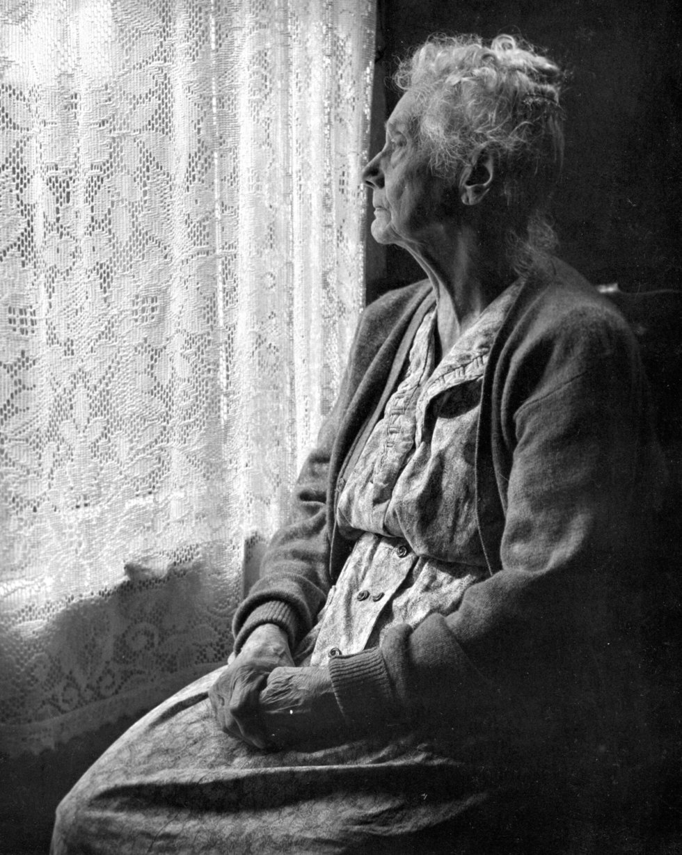 Elderly woman  b w image by chalmers butterfield