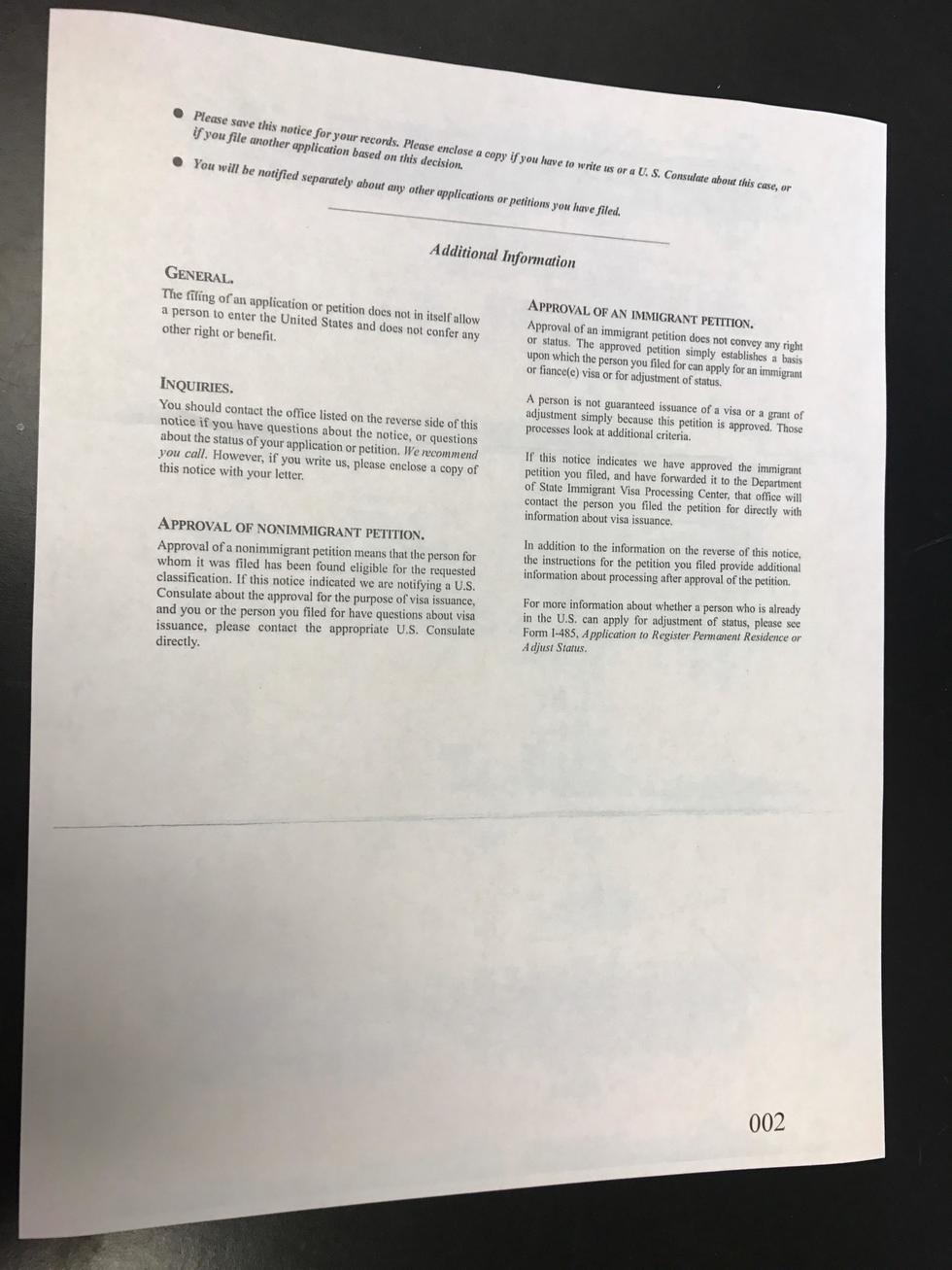 The i 130 petition for alien relative consular processing part 2 i 130 20approval 20page 202 falaconquin