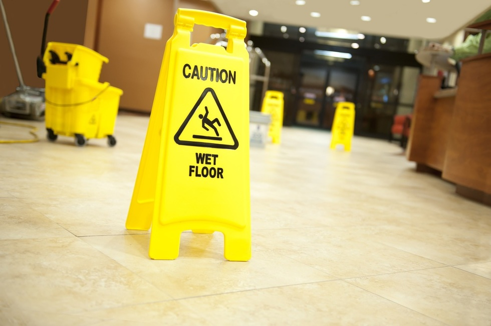 "A ""slip and fall"" is the generic term for an injury which occurs when someone slips, trips or falls resulting from dangerous or hazardous conditions on someone else's property, such as a wet floor."