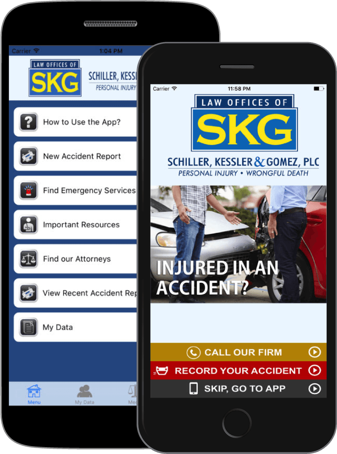 Download the SKG Accident App for Apple and Android devices.