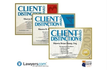 Lawyers.com client distinction award1