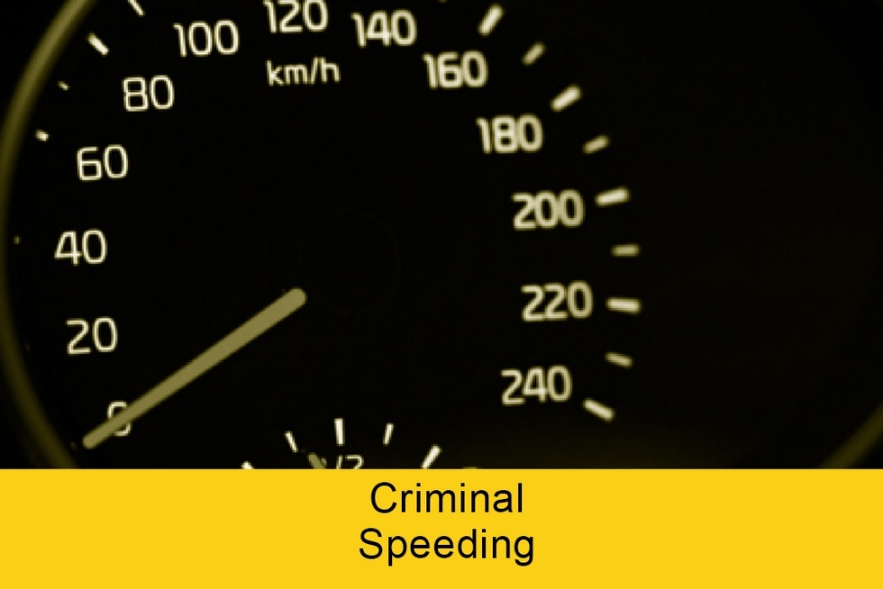 Criminal speeding