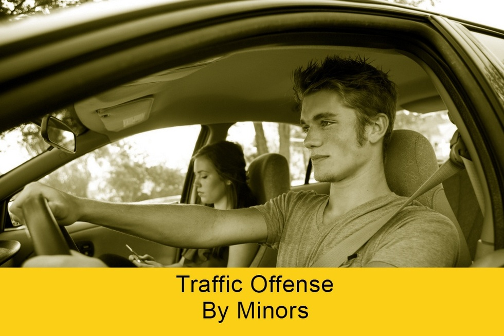 Traffic offenses by minors