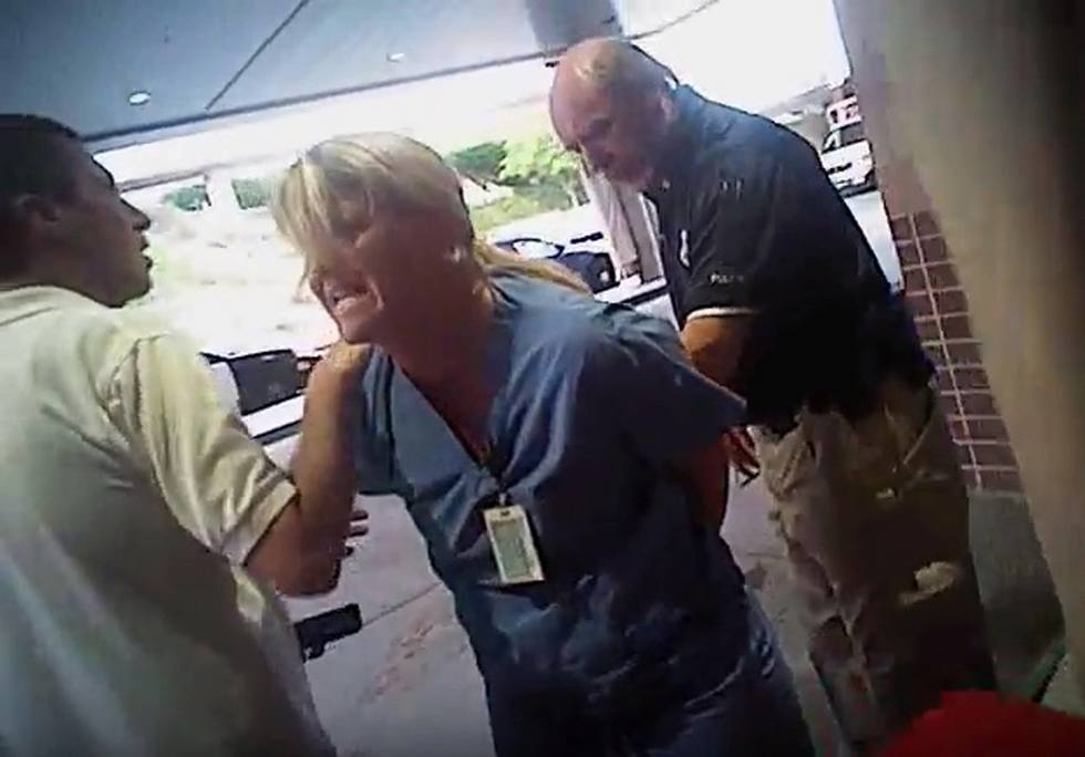Nurse arrested video