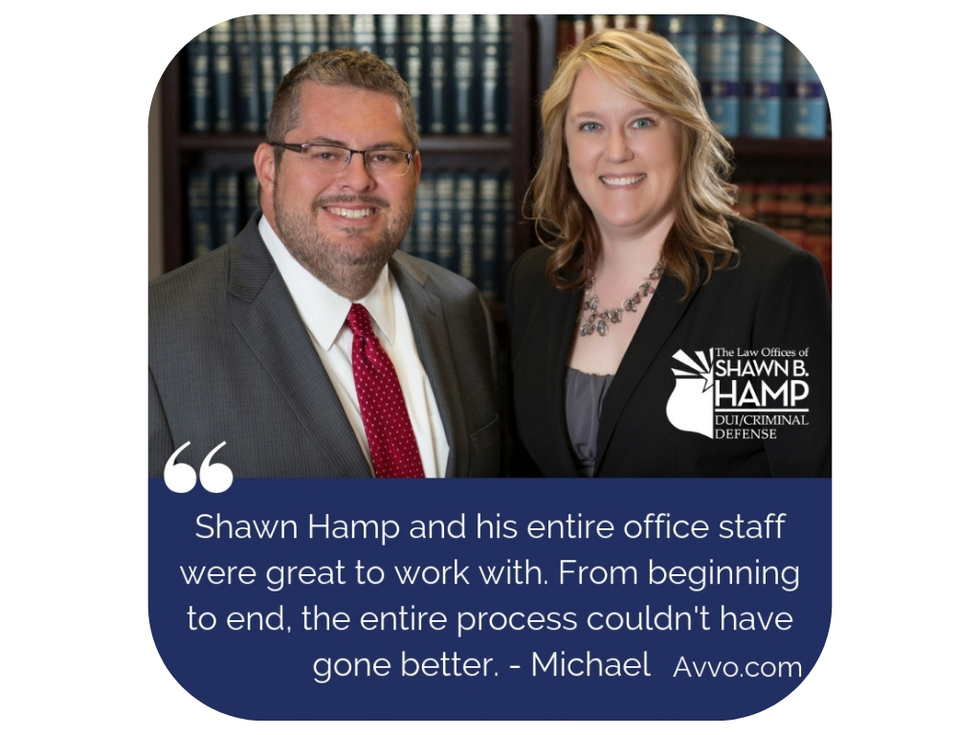 Attorney Shawn Hamp and Virginia Crews