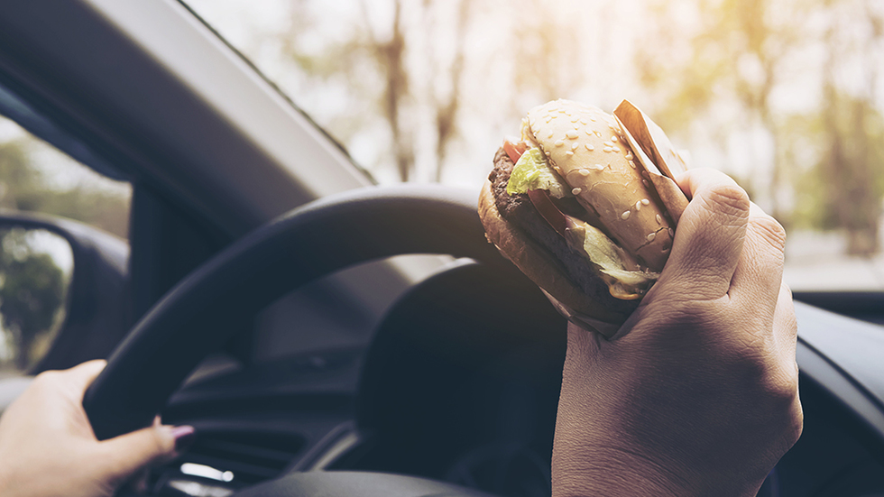 Eating driving