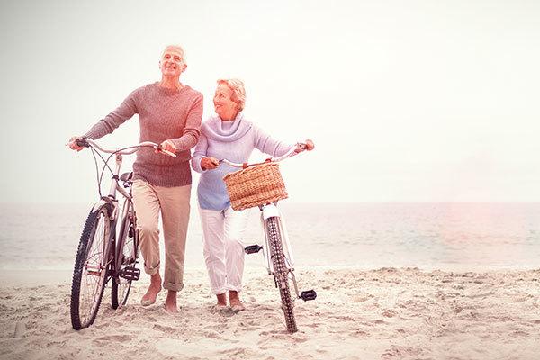 Aging senior couple