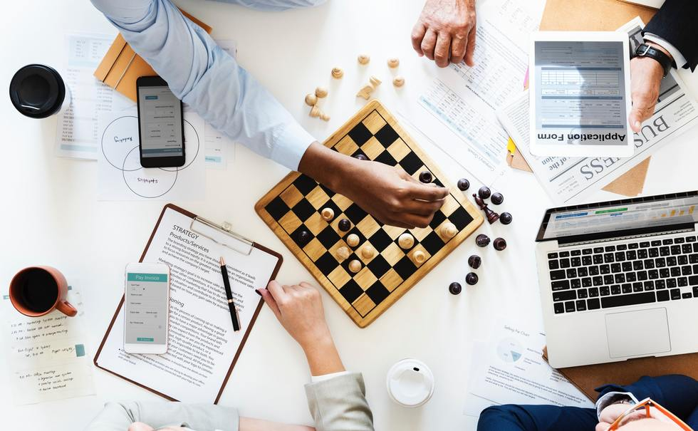 Business Picture with Chessboard