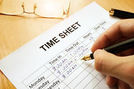picture of timesheet