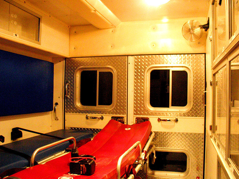 800px inside the back of an ambulance
