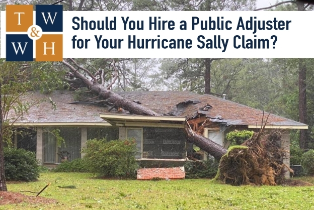 hurricane sally damage insurance claim public adjuster