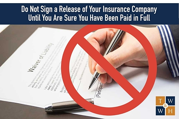 release of liability for insurance company